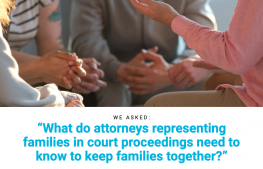 image shows text asking what attorneys representing families need to know